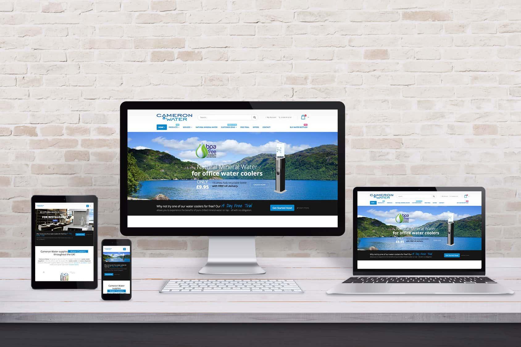 Cameron Water Website Development in Scotland